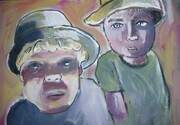 MILES AND OLIVER 11X14 INCH ACRYLC PORTRAIT ON GALLERYWRAP CANVAS 2014