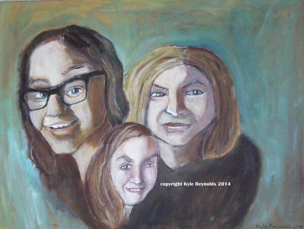 Family Portrait done in my expressionistic style