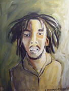 BOB MARLEY 11X14 ACRYLIC COMMISSION