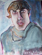 NOBLE 11X14 INCH ORIGINAL EXPRESSIVE ACRYLIC PORTRAIT ARTWORK 2007