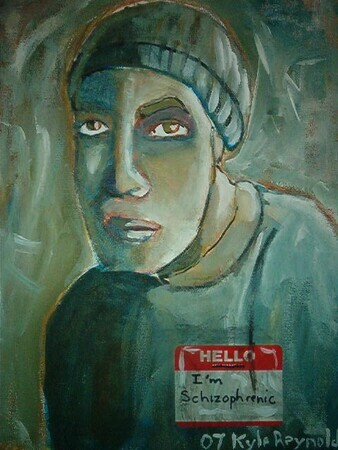 self portrait of schizophrenic artist by schizophrenic artist kyle reynolds
